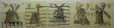 Statele Unite 1980 - Morile de vânt, serie stampilata