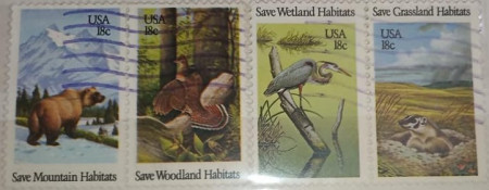 Statele Unite 1981 - Conservarea habitatelor sălbatice, serie stampilata
