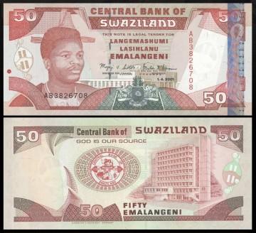 Swaziland 2001 - 50 emalangeni, XF