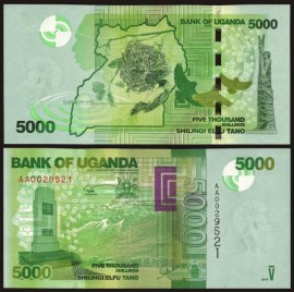Poze Uganda 2013 -  5000 shillings, necirculata