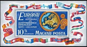 Ungaria 1975 - Conferinta de securitate, colita neuzata