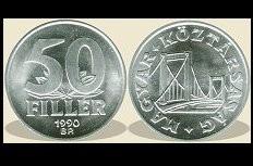 Ungaria 1990 - 50 filler, UNC