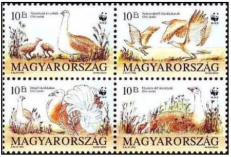 Ungaria 1994 - pasari wwf, serie neuzata