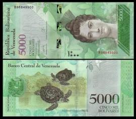 Venezuela 2016 - 5000 bolivares, necirculata