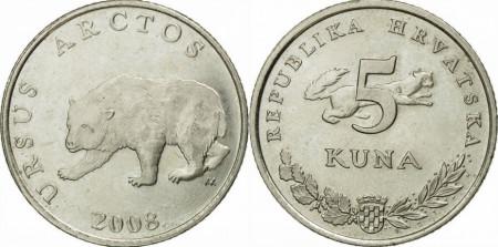 Croatia 2008 - 5 kuna, circulata