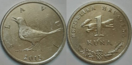 Croatia 2015 - 1 kuna, circulata