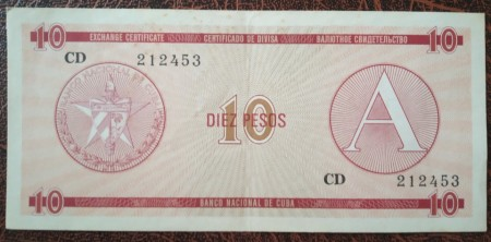 Poze Cuba 1985 - 10 pesos XF