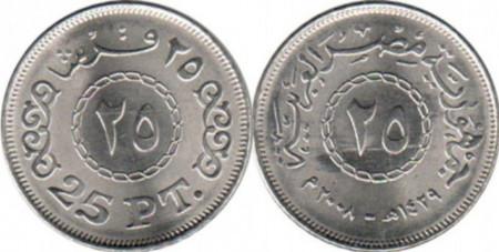Egipt 2008 - 25 piastres UNC