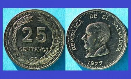 El Salvador 1977 - 25 centavos UNC