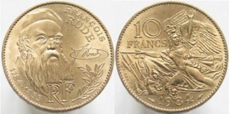 Franta 1984 - 10 francs, circulata