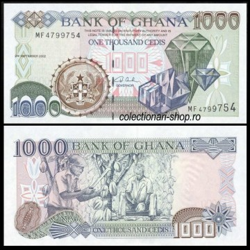 Poze Ghana 2002 - 1000 cedis, necirculata