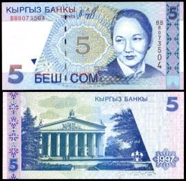 Kirghizstan 1997 - 5 som, necirculata