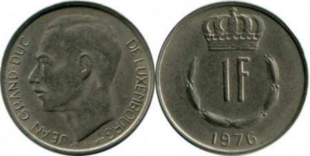 Luxemburg 1976 - 1 franc, circulata