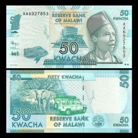 Malawi 2017 - 50 kwacha, necirculata