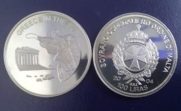 Malta 2004 - 100 lire, proof - Grecia in UE