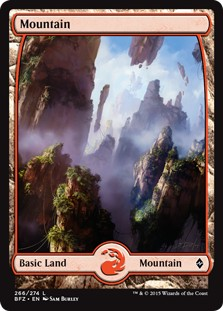 Mountain - Battle for Zendikar, # 269  x10