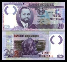 Mozambic 2011 -  20 meticais, necirculata