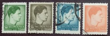 Romania 1947 - Mihai I - uzuale (format mic), serie stampilata