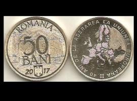Romania 2017 - 50 bani, Aderare la UE, UNC