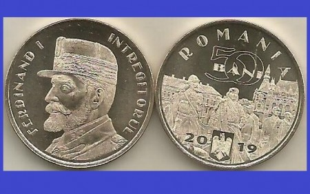 Romania 2019 - 50 bani, Desăvârșirea Marii Uniri – Regele Ferdinand I, UNC