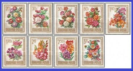 Ungaria 1965 - flori, serie neuzata
