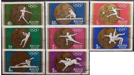 Ungaria 1969 - JO Mexic medalii, serie stampilata
