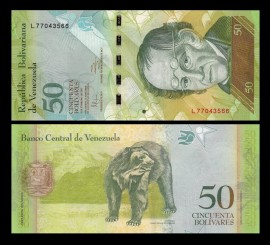 Venezuela -  50 bolivares 2015, necirculata
