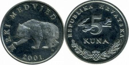 Croatia 2001 - 5 kuna, circulata
