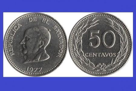 El Salvador 1977 - 50 centavos UNC