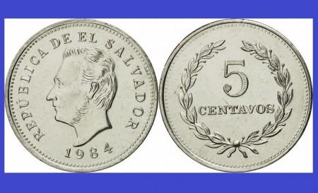 Poze El Salvador 1984 -  5 centavos UNC