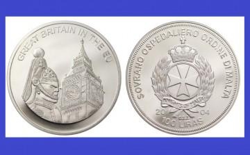 Malta 2004 - 100 lire, proof - Marea Britanie in UE