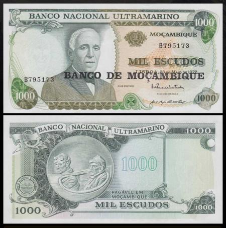 Mozambic 1972 - 1000 escudos, necirculata