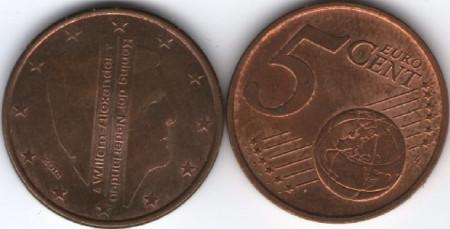 Olanda 2014 - 5 eurocent, circulata