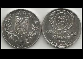 Romania 1996 - 10 lei, Summit ROMA, UNC