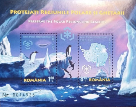 Romania 2009 - Protejați regiunile polare și ghețarii, colita stampilata