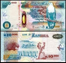 Zambia 2009 - 10.000 kwacha, necirculata