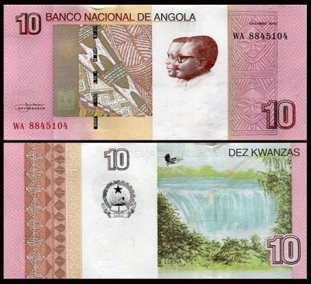 Angola 2012 -  10 kwanzas, necirculata