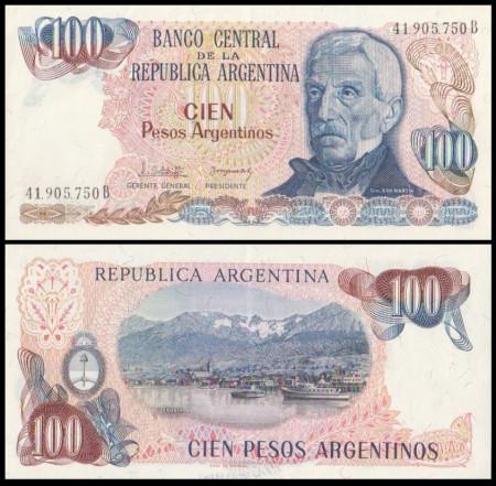 Argentina 1980 - 100 pesos XF