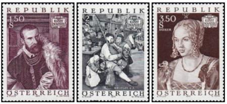 Austria 1971 - Picturi, serie neuzata