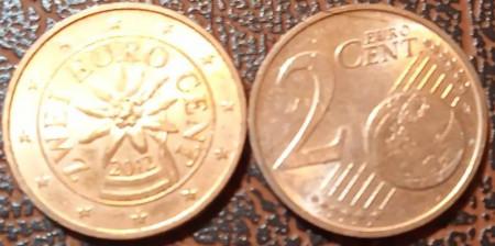 Austria 2012 - 2 eurocent, circulata