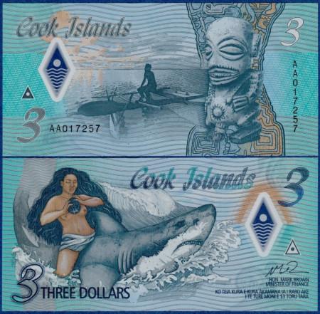 Cook Islands 2021 - 3 dollars UNC