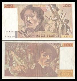 Franta 1990 - 100 francs, circulata