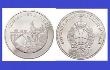 Malta 2004 - 100 lire, proof - Luxemburg in UE