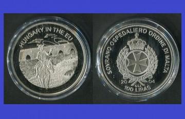 Malta 2004 - 100 lire, proof - Ungaria in UE