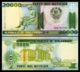 Mozambic 1999 -  20.000 meticais, necirculata
