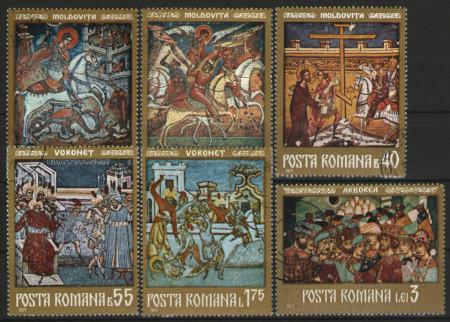 Romania 1971 - fresce, serie stampilata