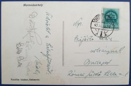 1940 - Targu Mures, vedere circulata (jud. Mures)
