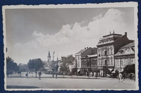 1943 - Targu Mures, centru, vedere circulata (jud. Mures)