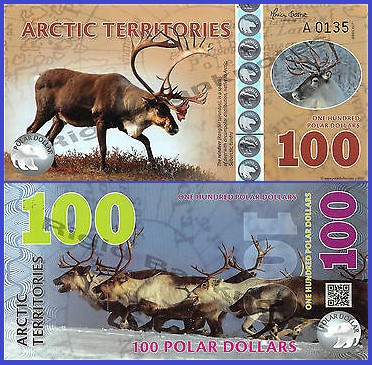 Antarctica 2017 - 100 dollars, necirculata