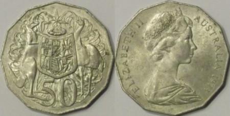 Australia 1973 - 50 cents, circulata